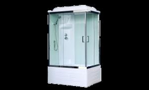 RB8100BP6-WT-CH-L Душевая кабина RoyalBath BP/R 100 x 80 см, дверь прозрачная, задние стенки белые