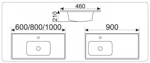 NY J842 - 60 Раковина CeramaLux Серия N