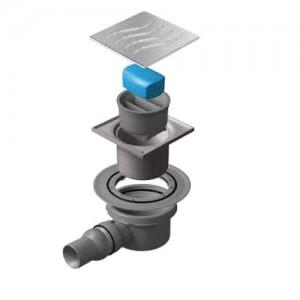 13000015 Трап водосток Pestan Confluo Standard Dry 1 100*100 нержавеющая сталь без рамки
