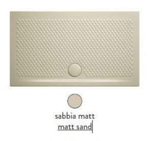 PDR017 31; 00 Поддон ArtCeram Texture 90 х 70 х 5,5 см,, прямоугольный, цвет - sabbia matt (бежевый), из искусственного камня