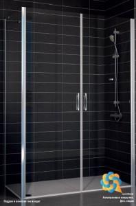 E2P-Fis 80*100 07 10 Душевой уголок Vegas Glass E2P-Fis профиль матовый хром, стекло сатин, 80 x 100 x 190 см