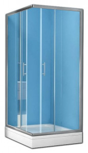 Q-LINETKK80 Душевой уголок Kolpa-San Q-LINE TKK, 80 x 80 х 190 см, стекло прозрачное