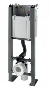 50975049 Инсталляция самонесущая Wirquin Crono для подвесного унитаза c клавишей смыва серии Essentiel матовой хромированной