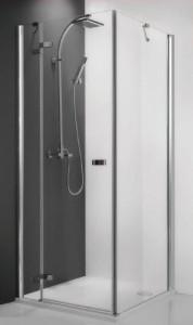 115-120000P-00-02/111-1000000-00-02 Душевой уголок Roltechnik Corner Elegant 120 x 100, правая дверь см, профиль хром