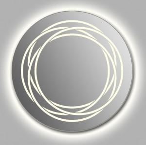 Зеркало Wenz Design D-rings-contour круглое / с контурной подсветкой
