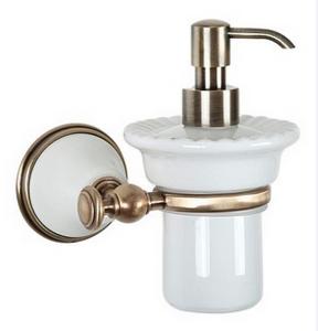Дозатор мыла ALL.PE Harmony HA108bi/br, белый/бронза