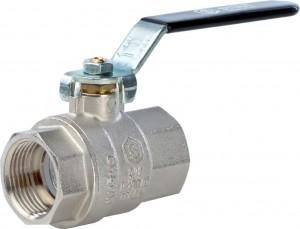 SVB-0001-000020 Шаровый кран Stout SVB-0001 3/4 вн-вн, полнопроходной, ручка рычаг