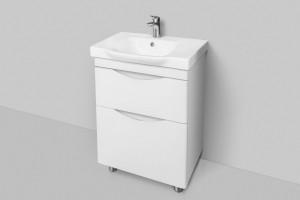 M80FSX0652WG AM.PM Like, База под раковину, напольная, 65 см, 2 ящика, белый, глянцевая