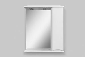 M80MPR0651WG AM.PM Like, зеркало, частично-зеркальный шкаф, правый, 65 см, с подсветкой, белый, глянец