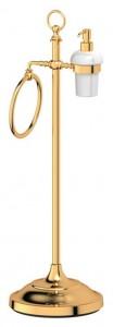 Стойка 3SC Stilmar UN STI 232 с 2-мя аксессуарами для туалета с биде 80 см, золото
