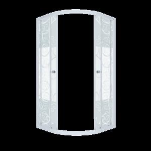 Щ0000026692 Душевой уголок (ширма) Triton Стандарт Узоры 90 x 90 см, четверть круга, стекло с узором