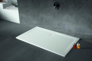 4163xA Душевой поддон Hoesch MUNA 80 x 70 x 3 см, прямоугольный, из искусственного камня