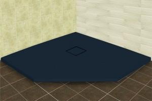 16155099-02 Душевой поддон RGW ST/T-0099G 90 x 90 см, трапеция, цвет серый, из искусственного камня