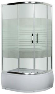 L013 R Душевой уголок Luxus Lang L013 L/R, 100 x 80 см, стекло прозрачное узорчатое