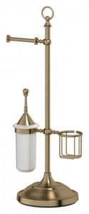 Стойка 3SC Stilmar UN STI 534 с 3-мя аксессуарами для туалета 80 см, античная бронза
