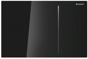 115.625.SJ.1 Клавиша Geberit Sigma Type 70, двойной смыв, стекло/алюминий, цвет черный