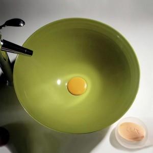 Раковина Melana 6T 806-T4006-B8 38.5x38.5 см фигурная, цвет салатовый
