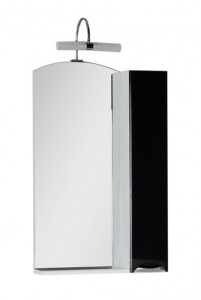 Зеркало-шкаф Aquanet Асти 55 00180074, цвет фасада черный