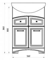 Тумба с раковиной АСБ-Мебель Вита 60