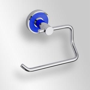 Держатель туалетной бумаги Bemeta Trend-i 104112048e 13.5 x 9 x 10 см без крышки, хром, синий