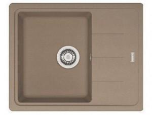 114.0313.334 Мойка Franke BASIS BFG 611 C,, гранит, установка сверху, оборачиваемая, цвет миндаль, 62*50 см