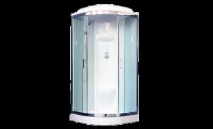 RB100HK6-WT-CH Душевая кабина Royal Bath 100 x 100 см, двери прозрачные, задние стенки белые