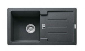 114.0312.527 Мойка Franke STRATA STG 614,, гранит, установка сверху, оборачиваемая, цвет графит, 78*43,5 см