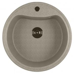 ML-GM09 (310) Кухонная мойка Mixline, врезная сверху, цвет - серый, 49 х 49 х 18.5 см