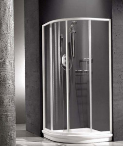 138150300 Душевая шторка Relax New Hadis-A 0138150300, 90 х 90 х 185 см, стекло акриловое