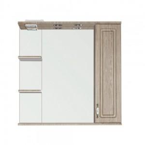 Зеркало-шкаф Style Line Олеандр-2 800/С ЛС-000010027 80 см, Люкс, с подсветкой, карпатская ель