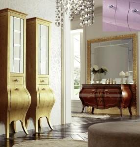 Шкаф-пенал Eurodesign Prestige PRES-VT VETRINA, Lilla Lucido/Лиловый окрашеный