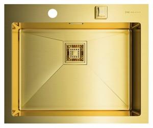 4973082 Мойка кухонная Omoikiri Akisame 59-LG светлое золото