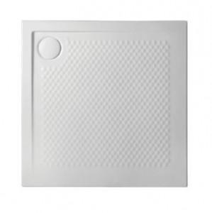 PDQ008 01; 00 Поддон ArtCeram Texture 90 х 90 х 5,5 см,, квадратный, цвет - белый глянцевый, из искусственного камня