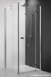 115-100000L-00-02/111-1200000-00-02 Душевой уголок Roltechnik Corner Elegant 100 x 120 см, левая дверь см, профиль хром