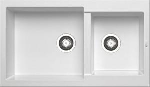 79811711 Кухонная мойка Pyramis Alazia, 86x50 см, белый опал