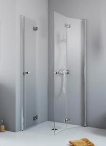 385070-01-01L/385072-01-01R Душевой уголок Radaway Essenza New KDD-B 80 х 100 с дверями типа Bi-fold, с порогом