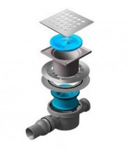 13000010 Трап водосток Pestan Confluo Standard Drops 2 150*150 мм нержавеющая сталь без рамки