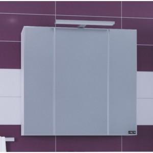 Зеркальный шкаф СаНта Стандарт 80 113011, цвет белый, с подсветкой