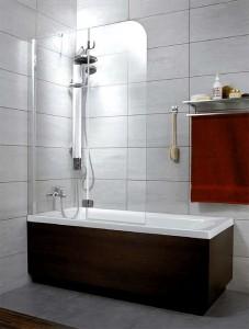 201202-101NL Шторка на ванну Radaway Torrenta PND 100 прозрачное стекло L