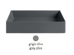 SCL001 15; 00 Раковина ArtCeram Scalino 38, накладная, цвет - grigio olive (серая оливка), 38 х 38 х 11.5 см