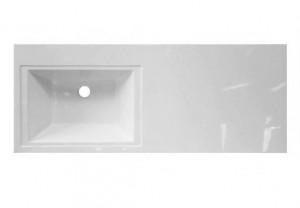 ФР-00001971 Раковина Эстет Даллас 100, левая, 100.2 х 48.2 х 14.5 см