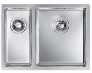 1091310 Мойка кухонная Alveus QUADRIX 120 SAT-90 595 x 450, левая/правая