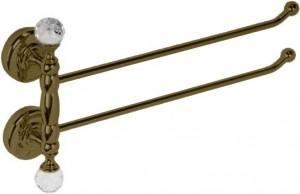 Полотенцедержатель двойной поворотный Migliore Amerida ML.AMR-60.424.BR бронза 45 см