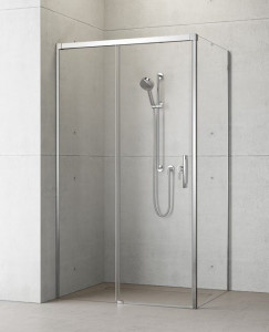 387040-01-01L/387052-01-01R Душевой уголок Radaway Idea KDJ 100 x 100 левый, стекло прозрачное