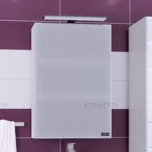 Зеркальный шкаф СаНта Стандарт 45 113014, цвет белый, с подсветкой
