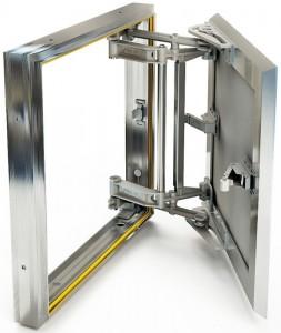 Слава 40x50 Люк ревизионный 400х500 мм под плитку алюминиевый Слава Хаммер (ширина/высота)
