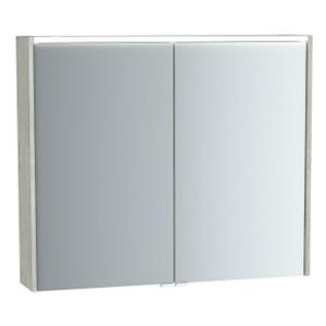 Зеркальный шкаф Vitra Metropole 61293 80 см, с подсветкой, цвет - серебристый дуб