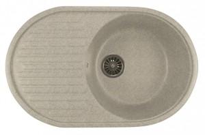 ML-GM16 (310) Кухонная мойка Mixline, врезная сверху, цвет - серый, 73.5 х 46.5 х 18 см