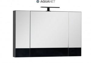 Зеркало-шкаф Aquanet Нота 100 (камерино) 00168879, цвет черный