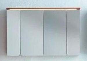 Зеркальный шкаф со светодиодной подсветкой Kolpa San Adele 110, TO 110 RED, цвет - красный матовый (red mat)